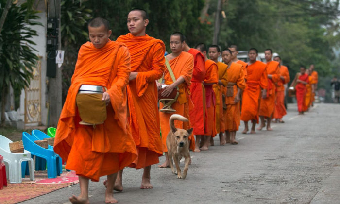 Giving Alms to Monks